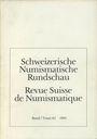 Antiquarischen buchern Revue suisse de numismatique. 1983