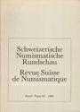 Antiquarischen buchern Revue suisse de numismatique. 1984