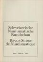 Antiquarischen buchern Revue suisse de numismatique. 1985
