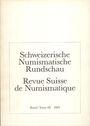 Antiquarischen buchern Revue suisse de numismatique. 1989