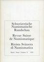 Antiquarischen buchern Revue suisse de numismatique. 1993