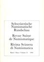 Antiquarischen buchern Revue suisse de numismatique. 1994