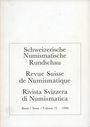 Antiquarischen buchern Revue suisse de numismatique. 1996