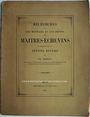 Antiquarischen buchern Robert Ch. - Recherches sur les monnaies et les jetons des Maîtres-échevins, 1853