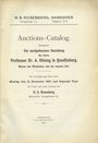 Antiquarischen buchern Rosenberg H. S., Auktion-Catalog. 12.12.1910