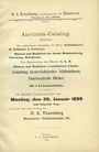 Antiquarischen buchern Rosenberg H. S., Auktion-Catalog (N° 1). 30. Januar 1899