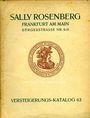 Antiquarischen buchern Rosenberg Sally. Auktions Katalog n° 63 du 2.4.1928