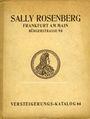 Antiquarischen buchern Rosenberg Sally. Auktions Katalog n° 64 du 19.6.1928
