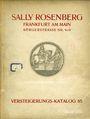 Antiquarischen buchern Rosenberg Sally. Auktions Katalog n° 65 du 12.11.1928