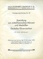 Antiquarischen buchern Rosenberg Sally. Auktions Katalog n° 68 du 25.11.1929
