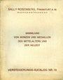 Antiquarischen buchern Rosenberg Sally. Auktions Katalog n° 70 du 25.11.1931