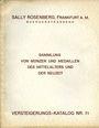 Antiquarischen buchern Rosenberg Sally. Auktions Katalog n° 71 du 23.03.1932