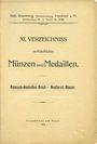 Antiquarischen buchern Rosenberg Sally. XI. Verzeichnis verkäuflicher, Münzen und Medaillen, 1906