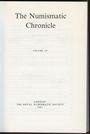 Antiquarischen buchern The Numismatic Chronicle. Volume 147. 1987