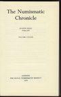 Antiquarischen buchern The Numismatic Chronicle. Volume CXXXIX. 1979