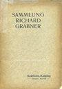 Antiquarischen buchern Thieme C. G., Auktion-Katalog. 20.05.1911, Sammlung Richard Grabner