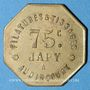 Coins Audincourt (25). Filatures et Tissages Japy. 75 centimes