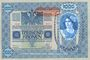 Banknoten Autriche. Banque Austro-Hongroise. Billet. 1 000 couronnes (1919) surchargé sur billet du 2.1.1902