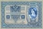 Banknoten Autriche. Banque Austro-Hongroise. Billet. 1000 couronnes (1919) surchargé sur billet du 2.1.1902