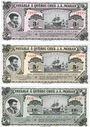 Banknoten Canada. J. A. Moisan. Série de 3 billets. 3, 5, 10 sous 1984