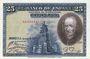 Banknoten Espagne. Banque d'Espagne. Billet. 25 pesetas 15.8.1928