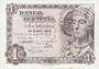 Banknoten Espagne, billet, 1 peseta 19.6.1948