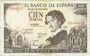Banknoten Espagne, billet, 100 pesetas 19.11.1965