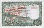 Banknoten Guinée Equatoriale. Billet. 5 000 bipkwele 21.10.1980 surchargé /500 pesetas guineanas 1969