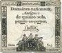 Banknoten Assignat. 15 sols. 24 octobre 1792. Signature : Buttin