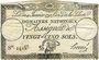 Banknoten Assignat. 25 sols. 4 janvier 1792. Signature : Hervé