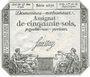 Banknoten Assignat. 50 sols. 23 mai 1793. Signature : Saussay