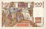 Banknoten Banque de France. Billet. 100 francs jeune paysan, 12.10.1950