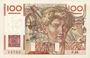 Banknoten Banque de France. Billet. 100 francs jeune paysan, 16.5.1946