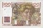 Banknoten Banque de France. Billet. 100 francs jeune paysan, 19.12.1946