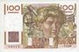 Banknoten Banque de France. Billet. 100 francs jeune paysan, 2.1.1953