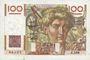 Banknoten Banque de France. Billet. 100 francs jeune paysan, 4.3.1954, filigrane inversé