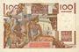 Banknoten Banque de France. Billet. 100 francs jeune paysan, 5.2.1953