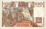 Banknoten Banque de France. Billet. 100 francs jeune paysan, 6.9.1951