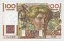 Banknoten Banque de France. Billet. 100 francs jeune paysan, 7.11.1945