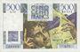 Banknoten Banque de France. Billet. 500 francs, Chateaubriand, 28.3.1946