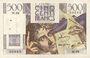 Banknoten Banque de France. Billet. 500 francs, Chateaubriand, 7.2.1946