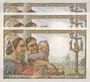 Banknoten Banque de France. Billets. 20 francs pêcheur numéros consécutifs, 10.2.1944. 3 exemplaires