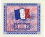 Banknoten Billet. 10 francs. Drapeau, type américain, 1944, sans n° série. Impression décalée !