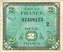 Banknoten Billet. 2 francs, Drapeau, type américain, 1944, série 2