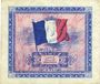 Banknoten Billet. 2 francs. Drapeau, type américain, 1944, série 2