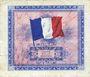 Banknoten Billet. 5 francs, Drapeau, type américain, 1944, sans n° série