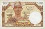 Banknoten Territoires occupés. Billet. 100 francs, Trésor français, type 1947