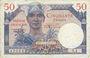 Banknoten Territoires occupés. Billet. 50 francs, Trésor français, type 1947