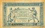 Banknoten Trésorerie aux Armées. Billet. 50 cmes, 1917, série F