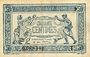 Banknoten Trésorerie aux Armées. Billet. 50 cmes, 1919, série T